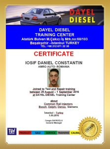 certicate Diesel Test Benches, Tools, Equipments